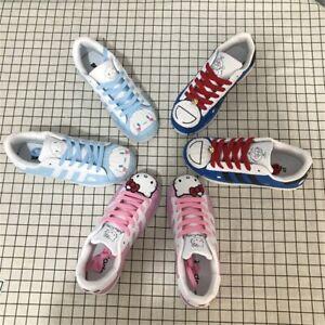 Doraemon Hello Kitty Inspired Sneakers Kawaii Harajuku Cartoon Cute Tie Up Shoes