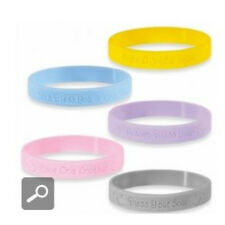 "Precious Moments PINK rubber silicone bracelet wristband "" LOVE ONE ANOTHER """