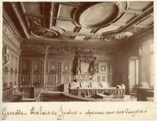 France Isère Grenoble Le Palais De Justice Vintage Print Tirage albuminé  17