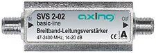 Beste Axing Satelliten Leitungsverstärker Inline Breitband  Signalverstärker NEU