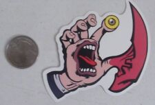 Santa cruz sticker screaming hand the thing skate skateboard cell laptop bumper