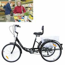 Ridgeyard 26'' Adult Tricycle Trike 3-Wheel Shimano 7 Speed 6 Gears black