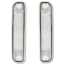 73-80 Chevy Chevrolet GMC Truck Clear Side Marker Light Lamp Lens w/ Trim Pair