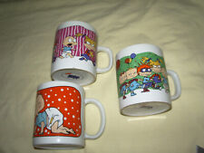 """"""" 3 MUGS RUGRATS LES RAZMOKETS NICKELODEON 9.5 CM LIRE ANNONCE"""