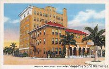 FT MYERS FL 1935 Long Gone Franklin Arms Hotel VINTAGE OLD FLORIDA HOTEL GEM+++