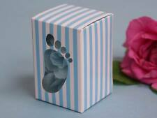 Blue Baby Feet Baby Shower Favor Boxes- Set of 8 - FREE SHIP
