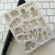 3D Ducha De Bebé de Silicona Molde Molde Pastel Fondant Sugarcraft decorando Toppers