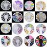 3D Nail Art Rhinestones Glitters Beads Acrylic Tips Decorations Manicure Wheels