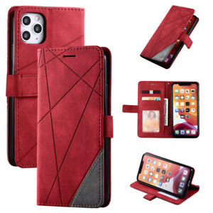 Shockproof Luxury Leather Flip Case Cover For iPhone 13 12 11 Pro Max XS XR 8 7