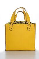 Folli Follie Monogram Lined Four Strap Tote Handbag Yellow Black