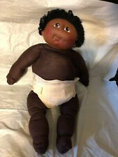 Black Cabbage Patch -Type Boy Doll With Soft Sculptured Body