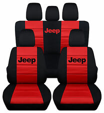 2011-2012Jeep wrangler 4dr CAR SEAT COVERS front&back black/red/gray/green/blue