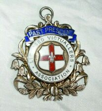 ANTIQUE SILVER LICENSED VICTUALLERS ASSOCIATION PRESIDENT MEDAL JEWEL MASONIC