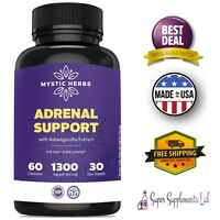 ADRENAL SUPPORT & CORTISOL MANAGER 60 Capsules Mental Focus Fatigue Supplement