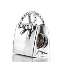 Woman Fashion European Handbag Bead Silver Charm Fit 925 Sterling Bracelet Chain