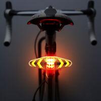 LED Fahrrad Rücklicht Bremslicht Blinker Remote Fernbedienung Warnung Kabellos