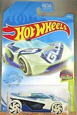 2021 Hot Wheels #17 HW Glow Racers 1/5 HW WARP SPEEDER Glo-In Dark-White / Blue