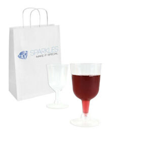 """12 Clear 4.5"""" Plastic Wine Glass 5.5oz Wedding Glasses Event Party Toast Cup"""