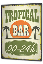 Tin Sign XXL Bar Party Tropical Bar