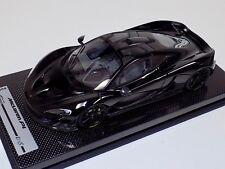 1/18 Tecnomodel McLaren P1 in Gloss Black with Black wheels #01 of 25 Carbon