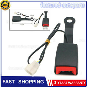 Front Driver Seat Belt Buckle Plug Connector Warning Cable Duty Belt Fast Shipp