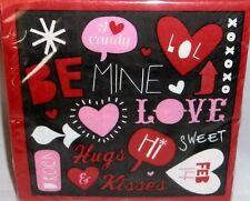 """Valentine's Day  Beverage Napkins  20 Ct  2 ply  9 4/5"""" x 9 3/4""""  VALENTINE FUN"""
