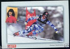 carte postale . SKI . Florence Masnada . 1999 . médaille de bronze . Vail .