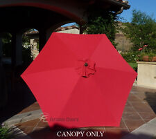 9ft Patio Garden Yard Market Replacement Umbrella Canopy Cover Top.6 Ribs Red