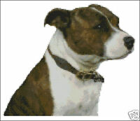"Staffordshire Terrier Counted Cross Stitch Kit 9.5""x 8"""