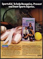 JANE FONDA : SportsAid__Orig. 1987 Trade print AD / video advert_fitness workout