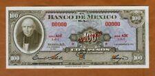 SPECIMEN, Mexico, 100 Pesos, 8-11-1961, P-61as, UNC