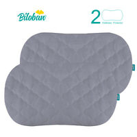 "Oval/Hourglass Waterproof Soft Bassinet Mattress Pad Cover 2 Pack Gray 31""x18"""