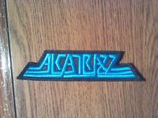 ALCATRAZZ,SEW ON BLUE EMBROIDERED PATCH