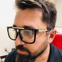 Gafas de Sol Lentes de Moda Grande Clear Lenses Fashion Men's Women's Sunglasses