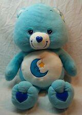 "Care Bears NICE LARGE BLUE BEDTIME BEAR 23"" Plush Stuffed Animal TOY NEW w/ TAG"