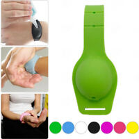 1pc Silicone Bracelet Wristband Hand Soap Dispenser Band Squeeze Bottle 07AU