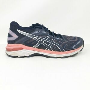 Asics Womens GT 2000 7 1012A147 Navy Blue Running Shoes Lace Up Low Top Size 6.5