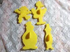 Set of 4 Vintage Wilton Sesame Street Cookie Cutters Bert Ernie Big Bird Monster