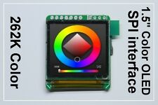 "SPI 1.5"" Color OLED display for Arduino ( compatible PIC / AVR / ARM )"