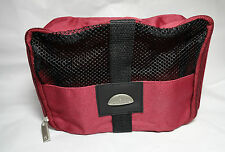 "Samsonite Soft Side Zip Cosmetic Case Travel Bag  9"" L 3.5 D Burgundy Gift Wrap"
