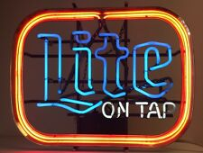 Vintage Miller Lite On Tap Neon Sign