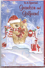 Grandson & Girlfriend Christmas Card. To A Special Grandson & Girlfriend.