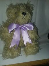 Annette Funicello Tammy Bear With Purple Bow 9 Inch Pre Owned Very Goid.