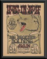 "Howlin"" Wolf & Janis Joplin Concert Poster Reprint On Old Paper *217"