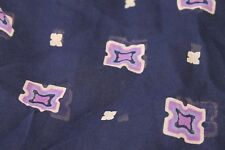 "Sewing Fabric chiffon eggplant purple material panel craft 43"" x 1/2 yd"