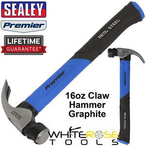 Sealey Claw Hammer 16oz Graphite Core Premier Carbon Steel Head Rubber Grip
