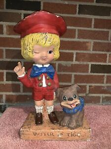 Rare 1972 BUSTER BROWN TIGE Character Advertising STATUE Figure Store Display