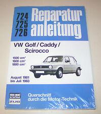 Reparaturanleitung VW Golf I / Caddy (14D) / Scirocco II - ab 1981 bis 1983!