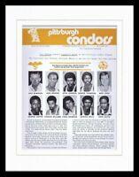 Pittsburgh Condors ABA Basketball Team Framed 11x14 Photo Display