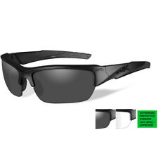 30daca7b3a3 Wiley X WX CHANGEABLES Valor Matte Black Sunglasses CH4701 100 Authentic